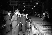 18/10/1962<br /> 10/18/1962<br /> 18 October 1962<br /> Senior Military Cadets visit Bowaters Irish Wallboard Mills Ltd. at Athy, Co. Kildare. The Cadets from the Military College, on the first of many visits to Irish Industry as part of the curriculum outside of military studies. Mr. Victor Sadgrove, Sales Manager, Bowaters, guiding the cadets on a tour of the factory. Included are: Captain H. Crowley, Training Officer; Lieutenant B. Studdert and some of the cadets from the college.