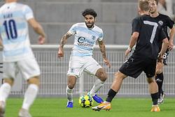 Daniel Norouzi (FC Helsingør) under kampen i 1. Division mellem FC Helsingør og Vendsyssel FF den 18. september 2020 på Helsingør Stadion (Foto: Claus Birch).