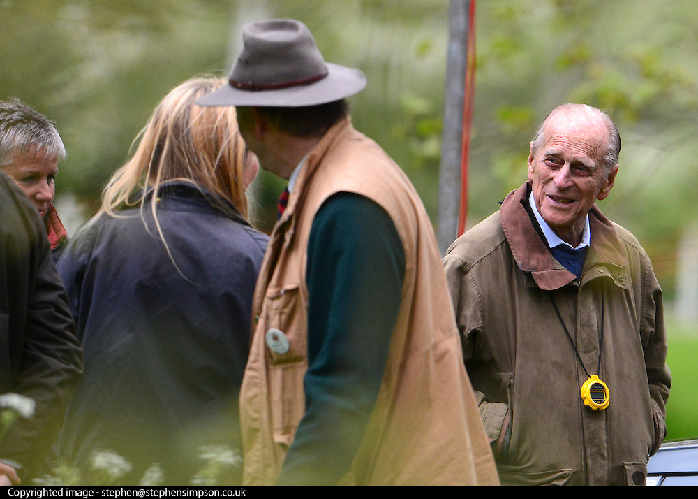 © Licensed to London News Pictures. 11/05/2013. Windsor, UK. HRH The Duke of Edinburgh (RIGHT) The Royal Windsor Horse Show, set in the grounds of Windsor Castle. Established in 1943, this year will see the Show celebrate its 70th anniversary. Photo credit : Stephen Simpson/LNP