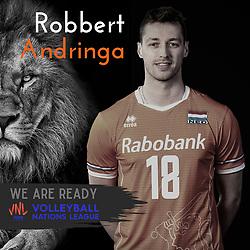 Robbert Andringa of Netherlands, Photoshoot selection of Orange men's volleybal team season 2021on may 11, 2021 in Arnhem, Netherlands (Photo by RHF Agency/Ronald Hoogendoorn)