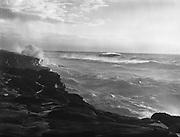 9969-7380. Breakers of an ocean gail at Boiler Bay Park. November 3, 1948