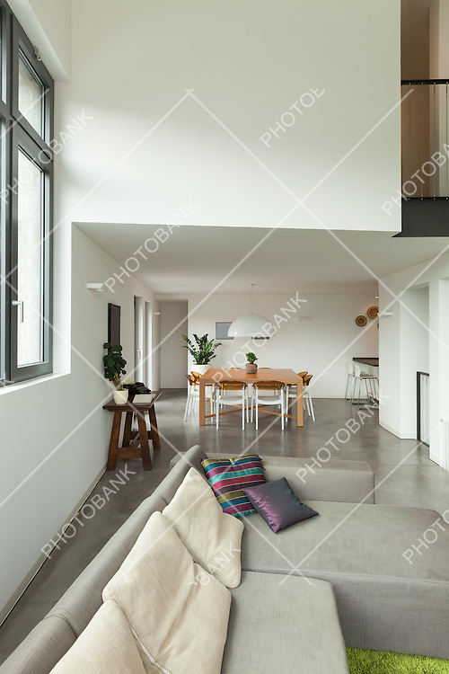 interior, new apartment, detail of the living room with window
