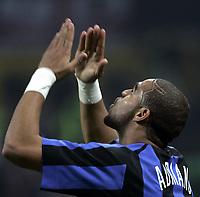 Milano, 11-12-05<br /> <br /> Campionato Serie A 05-06<br /> <br /> Inter-Milan<br /> <br /> nella  foto Adriano esulta dopo il suo gol<br /> <br /> Adriano celebrates after scoring first goal for Inter<br /> <br /> Foto Snapshot / Graffiti