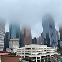 Part of Houston skyline - Foggy skyline