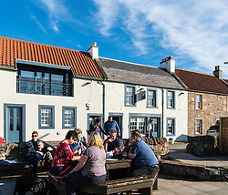 View of Ship Inn bar and restaurant in Elie in East Neuk of Fife in Scotland, United Kingdom