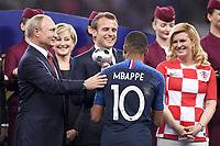 EMMANUEL MACRON - Kolinda Grabar Kitarovic (PRESIDENTE CROATIE) - VLADIMIR POUTINE - 10 KYLIAN MBAPPE (FRA) <br /> <br /> SOCCER : France vs Croatia - World Cup 2018 - Final - 07/15/2018<br /> Frankrike - Kroatia<br /> <br /> Norway only