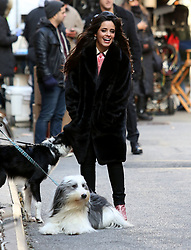 Camila Cabello eats a cupcake, pets a dog and dances for MasterCard Commercial filming in Manhattan's West Village Neighborhood. 06 Dec 2018 Pictured: Camila Cabello. Photo credit: LRNYC / MEGA TheMegaAgency.com +1 888 505 6342