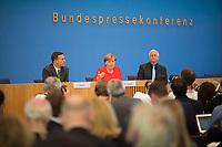 DEU, Deutschland, Germany, Berlin, 29.08.2017: Bundeskanzlerin Dr. Angela Merkel (CDU) in der Bundespressekonferenz zu aktuellen Themen der Innen- und Aussenpolitik.