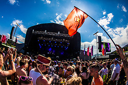 """Maoin stage, Saturday at Rockness 2013, the annual music festival which took place in Scotland at Clune Farm, Dores, on the banks of Loch Ness, near Inverness in the Scottish Highlands. The festival is known as """"the most beautiful festival in the world"""" ."""