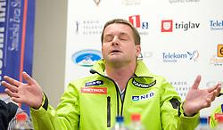 Matjaz Sarabon at press conference of Slovenian Ski Federation a day after Men's Downhill of the Audi FIS Ski World Cup 2009/10 in Bormio, on December 30, 2009, in SZS, Ljubljana, Slovenia.  (Photo by Vid Ponikvar / Sportida)