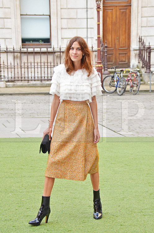 © Licensed to London News Pictures. 04/06/2014, UK. Alexa Chung, Royal Academy Summer Exhibition 2014 - VIP Preview/Party, Royal Academy of Arts, London UK, 04 June 2014. Photo credit : Brett D. Cove/Piqtured/LNP