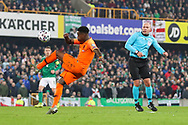 Netherlands forward Quincy Promes (11) clears the ball during the UEFA European 2020 Qualifier match between Northern Ireland and Netherlands at National Football Stadium, Windsor Park, Northern Ireland on 16 November 2019.