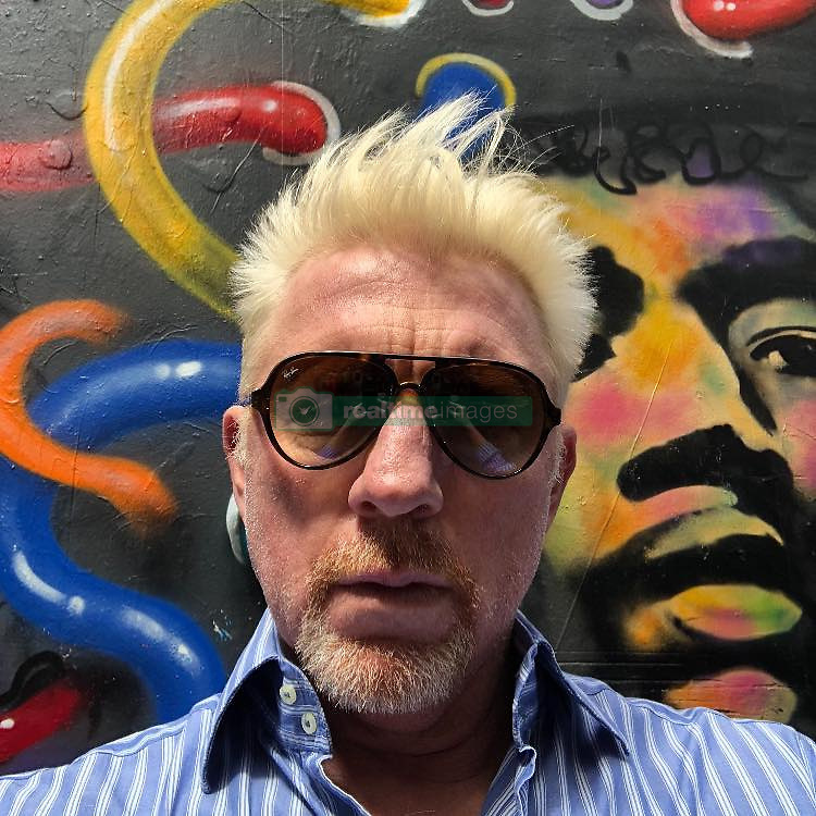 """Boris Becker releases a photo on Instagram with the following caption: """"Happy Sunday #streetart #melbourne @australianopen @eurosport"""". Photo Credit: Instagram *** No USA Distribution *** For Editorial Use Only *** Not to be Published in Books or Photo Books ***  Please note: Fees charged by the agency are for the agency's services only, and do not, nor are they intended to, convey to the user any ownership of Copyright or License in the material. The agency does not claim any ownership including but not limited to Copyright or License in the attached material. By publishing this material you expressly agree to indemnify and to hold the agency and its directors, shareholders and employees harmless from any loss, claims, damages, demands, expenses (including legal fees), or any causes of action or allegation against the agency arising out of or connected in any way with publication of the material."""