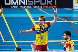Wessel Blom of Dynamo in action during the league match between Draisma Dynamo vs. Amysoft Lycurgus on March 13, 2021 in Apeldoorn.