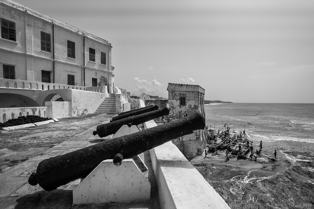 Cannons & Fishing Fleet, Cape Coast Castle