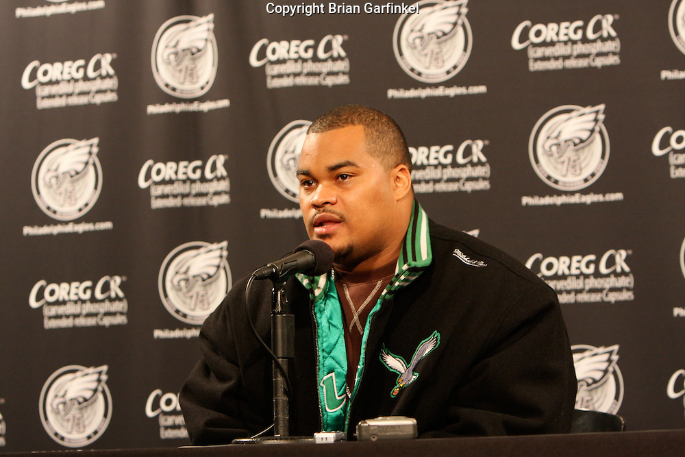 PHILADELPHIA - DECEMBER 9: Duce Staley of the Philadelphia Eagles announced his retirement before the game agains the New York Giants on December 9, 2007 at Lincoln Financial Field in Philadelphia, Pennsylvania. The Giants won 16-13.