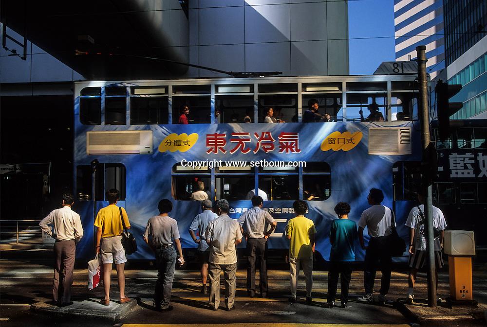 Hong Kong. tramways in Shue Wan  (Victoria island)         / tramways  dans Shue Wan         / R00092/8    L0007246  /  P0001846