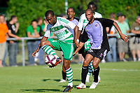 FOOTBALL - FRIENDLY GAMES 2011/2012 - AS SAINT ETIENNE v FC ISTRES  - 8/07/2011 - PHOTO GUY JEFFROY / DPPI - FLORENT SINAMA PONGOLLE (ASSE) / ERIC CHELLE (IST)