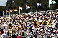MELBOURNE -  Publiek in het stadion tijdens de halve finale tussen de mannen van Australie en India bij de Champions Trophy hockey in Melbourne. ANP KOEN SUYK