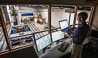 BioPower Systems Pty Ltd, testing facility for wave power generation. Gerold Kloos, R&D Manager. Photo By Craig Sillitoe