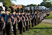 The Oregon Marching Band practices and performs in Prophetstown, Illinois on June 24, 2009.