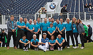 Byeong Hun AN of korea with the trophy during the 4th day of the BMW PGA Championship at Wentworth, Virginia Water, United Kingdom on 24 May 2015. Photo by Ellie  Hoad.