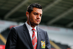 Sergio Romero of Manchester United arrives at the stadium - Mandatory byline: Rogan Thomson/JMP - 07966 386802 - 30/08/2015 - FOOTBALL - Liberty Stadium - Swansea, Wales - Swansea City v Manchester United - Barclays Premier League.