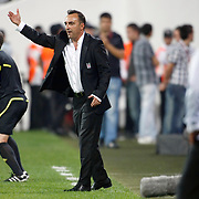 Besiktas's coach Carlos CARVALHAL during their UEFA Europa League Group Stage Group E soccer match Besiktas between Maccabi Tel Aviv at Inonu stadium in Istanbul Turkey on Thursday September 15, 2011. Photo by TURKPIX
