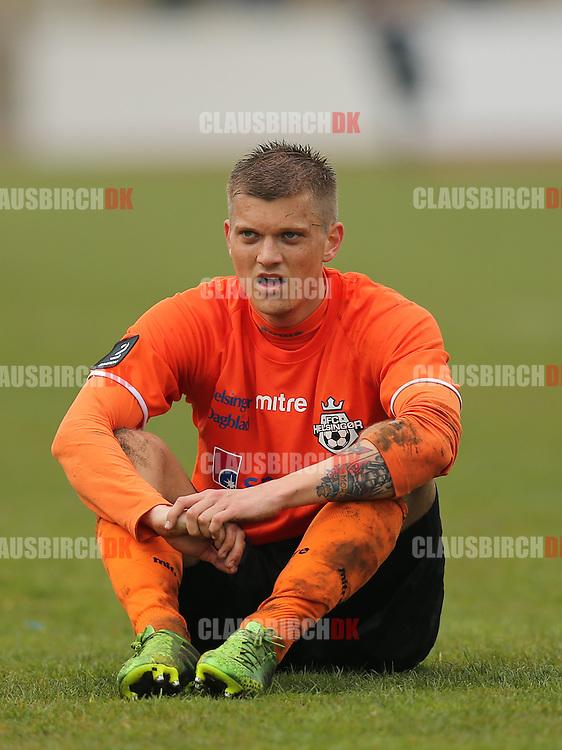 Jannik Zimling (FC Helsingør) ærgrer sig efter nederlaget.