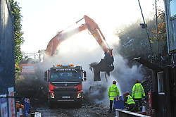 © Licensed to London News Pictures. 02/11/2016<br /> The BIG WASTE4FUEL clean up has started at the ex-recycling site in Cornwall Drive,St Pauls Cray,Orpington,Kent.<br /> Over the next 20 weeks more than 18.000 tonnes of waste will be removed from the site by the councils recycling partner Veolia with the work overseen by the environment agency.  The first of the lorries arrived yesterday. . Photo credit: Grant Falvey/LNP