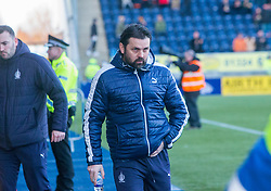 Falkirk's manager Paul Hartley at the start. Falkirk 6 v 1 Dundee United, Scottish Championship game played 6/1/2018 played at The Falkirk Stadium.
