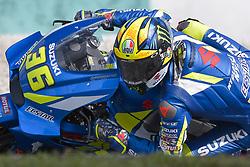 February 7, 2019 - Sepang, Malaysia - Team Suzuki ECSTAR's rider Joan Mir of Spain takes a corner during the second day of the 2019 MotoGP pre-season testing at Sepang International Circuit February 7, 2019. (Credit Image: © Zahim Mohd/NurPhoto via ZUMA Press)