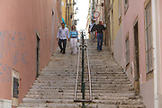 "The streets around hotel ""Casa das Janelas com Vista"", located in Bairro Alto district, in Lisbon, Portugal."
