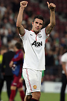 Robin van Persie of Manchester United celebrate after the UEFA Champions League, Group H, soccer match against CFR Cluj, at Dr. Constantin Radulescu Stadium in Cluj-Napoca, Romania, 2 October 2012.