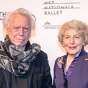 NLD/Amsterdam/20180324 - inloop première Dutch Doubles ballet, Cees Dam en partner Martine Loon van Labouchere