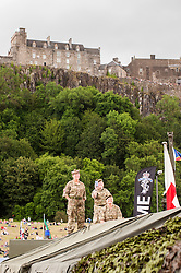 In the Shadow of Sterling Castle and Walace's Monument 1,000's of servicemen and women take part in the 6th Annual Armed Forces Day. <br /> <br /> June 29 2014<br /> Copyright Paul David Drabble<br /> www.pauldaviddrabble.co.uk