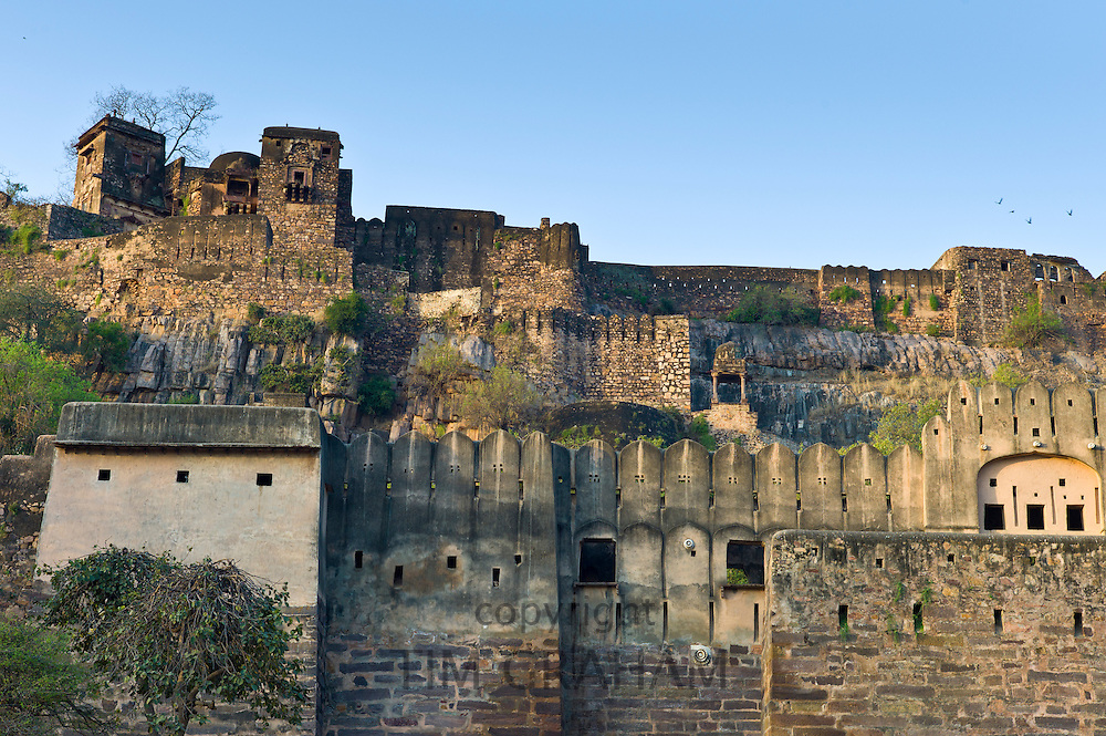 Ranthambore Fort heritage site in Rajasthan, Northern India