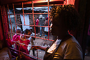 Kibera residents display a high amount of pride in their fashion and beauty, scenes from a hair salon in the town of Kibera, Nairobi, Kenya on Sunday 15th of September.
