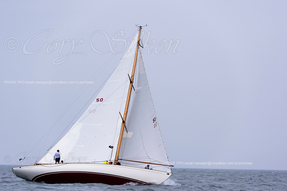 Sonny racing in the Sail Nantucket Regatta, day one.