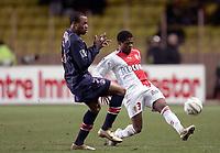 Fotball<br /> Frankrike 2004/05<br /> Monaco v Paris Saint Germain<br /> 30. januar 2005<br /> Foto: Digitalsport<br /> NORWAY ONLY<br /> PATRICE EVRA (MON) / FABRICE PANCRATE (PSG)