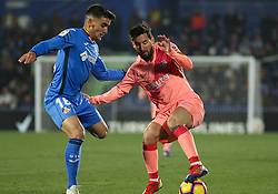 January 6, 2019 - Getafe, Madrid, Spain - Messi of Barcelona in action during the spanish league, La Liga, football match between Getafe and Barcelona on January 06, 2019 at Coliseum Alfonso Perez in Getafe, Madrid, Spain. (Credit Image: © AFP7 via ZUMA Wire)