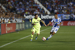 September 26, 2018 - Leganes, Madrid, Spain - Lionel Messi (FC Barcelona) during the La Liga match between CD Leganes and FC Barcelona at Butarque Stadium in Leganes. (Credit Image: © Manu Reino/SOPA Images via ZUMA Wire)