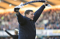 Football - 2016 / 2017 FA Cup - Fifth Round: Millwall vs. Leicester City <br /> <br /> Fans on the pitch at the end celebrate at The Den<br /> <br /> COLORSPORT/DANIEL BEARHAM