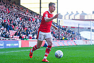 Cauley Woodrow of Barnsley (9) in action during the EFL Sky Bet League 1 match between Barnsley and Coventry City at Oakwell, Barnsley, England on 30 March 2019.