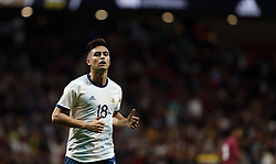 March 22, 2019 - Madrid, Madrid, Spain - Argentina's Piti Martinez seen in action during the International Friendly match between Argentina and Venezuela at the wanda metropolitano stadium in Madrid. (Credit Image: © Manu Reino/SOPA Images via ZUMA Wire)