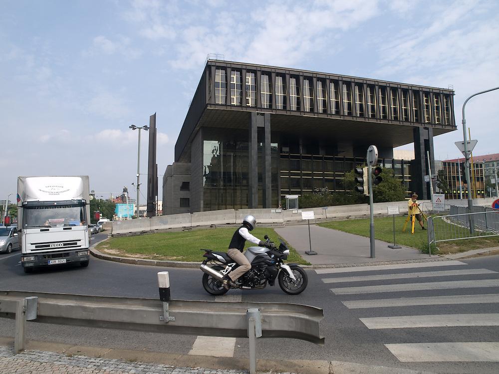 Das derzeitige hochgesicherte Gebäude von Radio Free Europe am oberen Wenzelsplatz in Prag vor dem Umzug.<br /> <br /> The building of Radio Free Europe at the upper Wenceslas Square in Prague before moving.