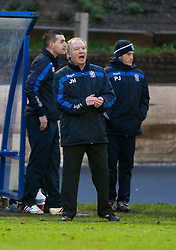 Cowdenbeath's player manager Jimmy Nicholl.<br /> Cowdenbeath 0 v 2 Falkirk, Scottish Championship game today at Central Park, the home ground of Cowdenbeath Football Club.<br /> © Michael Schofield.