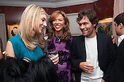 KIM HERSOV; HEATHER KERZNER; BARRY REIGATE, Dinner to celebrate the opening of Pace London at  members club 6 Burlington Gdns. The dinner followed the Private View of the exhibition Rothko/Sugimoto: Dark Paintings and Seascapes.