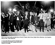 Film crews and media outside Steve Tisch &  Vanity Fair's Oscar Night Party,<br />Mortons,  Los Angeles. March 1994.  Film 94564/30<br /> <br />© Copyright Photograph by Dafydd Jones<br />66 Stockwell Park Rd. London SW9 0DA<br />Tel 0171 733 0108.