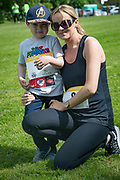 NO FEE PICTURES<br /> 19/5/18 Hundreds of people of all ages lapped up the summer sunshine when they came out to support an important cause which is close to many of their hearts, organ donation, by taking part in the Irish Kidney Association's 'Run for a Life' family fun run which took place at Corkagh Park, Clondalkin, Dublin 22 on Saturday 19th May.   (www.runforalife.ie)  Pictured are Sharon Dunne and son  Jamie , age 4, Oldbawn. Picture:Arthur Carron